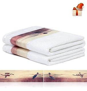 Mr & Mrs Terry Bath Towel Set of 2 - Couple Bathrobe Partner 28