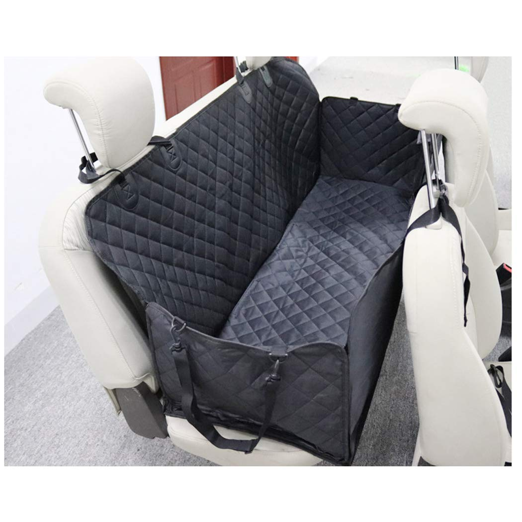 GAIBO Pet Seat Covers with Mesh Visual Window, Nonslip Against Moisture Dirt and Hair Easy to Clean Washable, for Cars Trucks SUV,Black