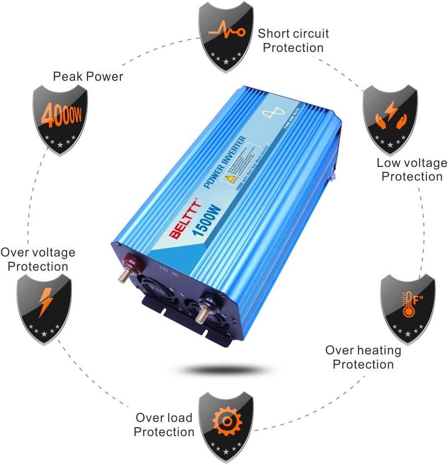 Amazon.com: BELTTT - Inversor de corriente de onda ...