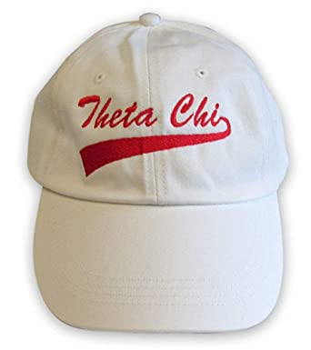 Greekgear Theta Chi Tail Hat White/Red at Amazon Men's Clothing