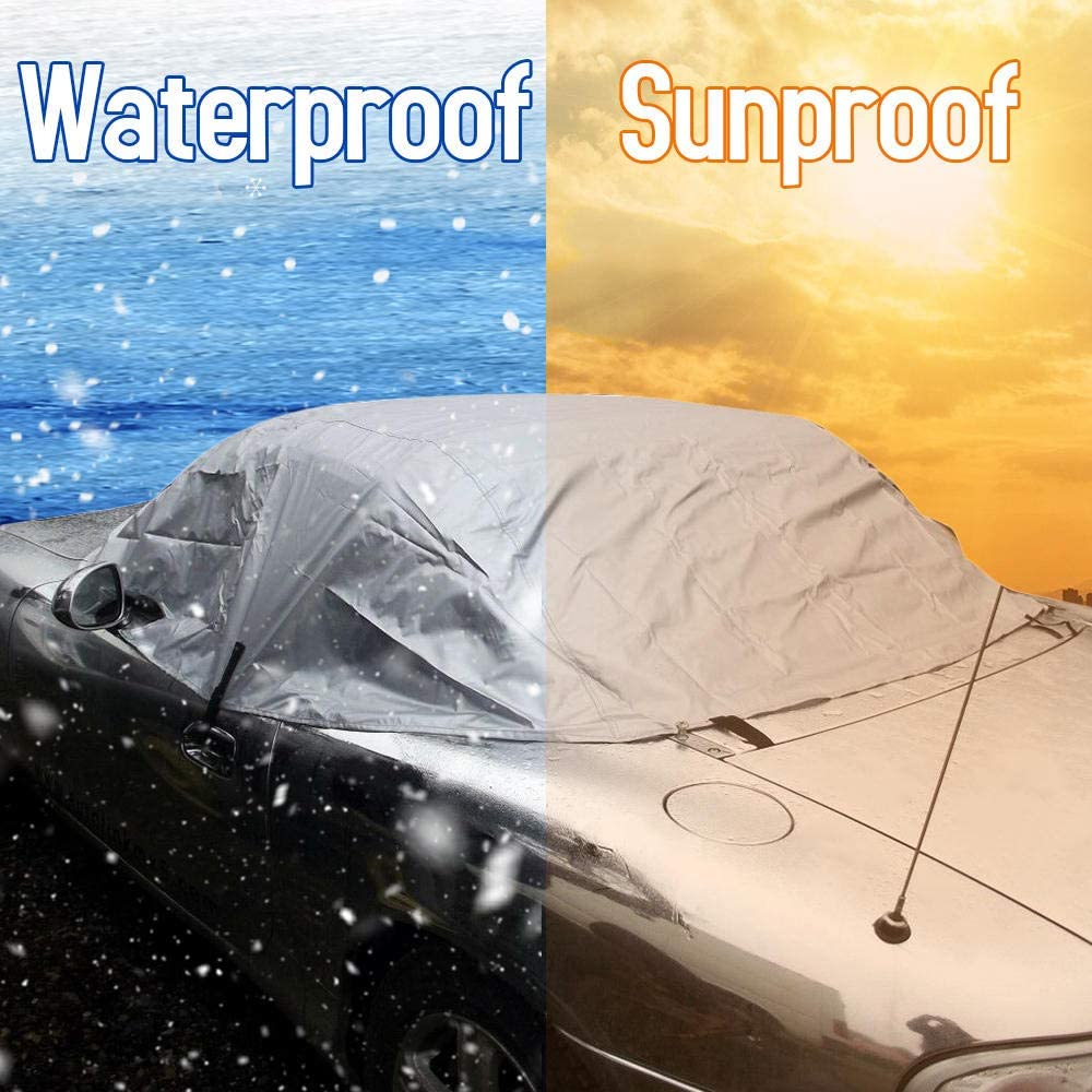 QQW Car Cover Soft Top Roof Protector Half Outdoor Sun Protection Cover Dust Rain Snow Protective Fit for Mazda MX-5 MK1 MK2 MK2.5