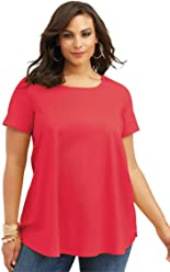 a072c70fc80 Roamans Women s Plus Size Ultimate Trapeze Tee
