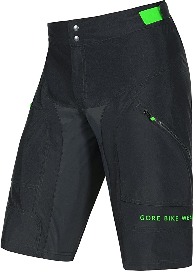Herren Gore Bike Wear Herren Hose Kurze Power Trail 2 in 1 Shorts Schwarz.