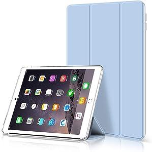 KenKe iPad 9.7 Inch Case,2018 iPad 6th Generation Case / 2017 iPad 5th Generation Case,Ultra Slim Protective Soft TPU Back Smart Cover [Auto Sleep/Wake] for iPad 5th 6th Gen 9.7 inch case -(White ice)