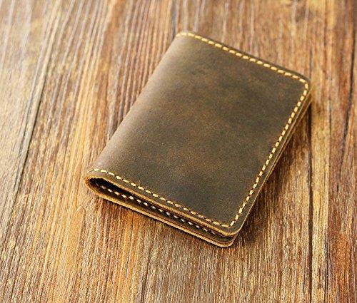personalized leather credit card holder slim cash change wallet vintage retro leather card case - Leather Card Holder Wallet