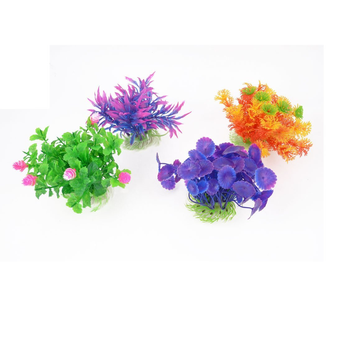 1Pc Plastic Home Aquarium Fish Tank Aquatic Plant Grass Lawn Ornament Multicolor