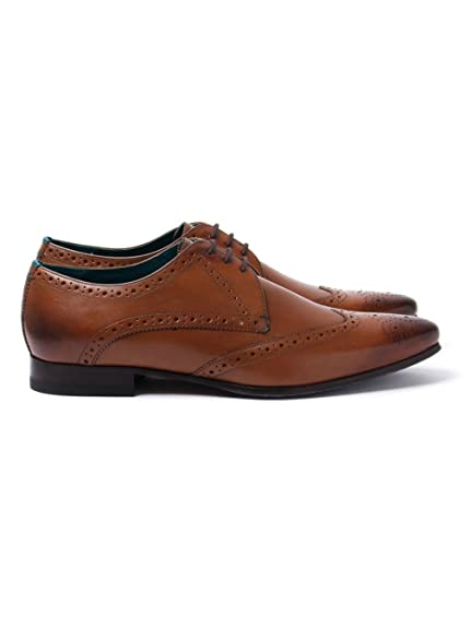 fe5fc2d67 Ted Baker Men s Albbin Leather Lace Up Formal Shoe Tan-Tan-7  Amazon ...