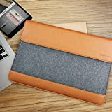 Tomtoc Ultra Slim 15 Inch New MacBook Pro Retina with Touch Bar 2017 & 2016   MacBook Pro Retina Sleeve Tablet Case Cover [Felt & PU Leather] Protective Bag with Accessory Pocket - Classic
