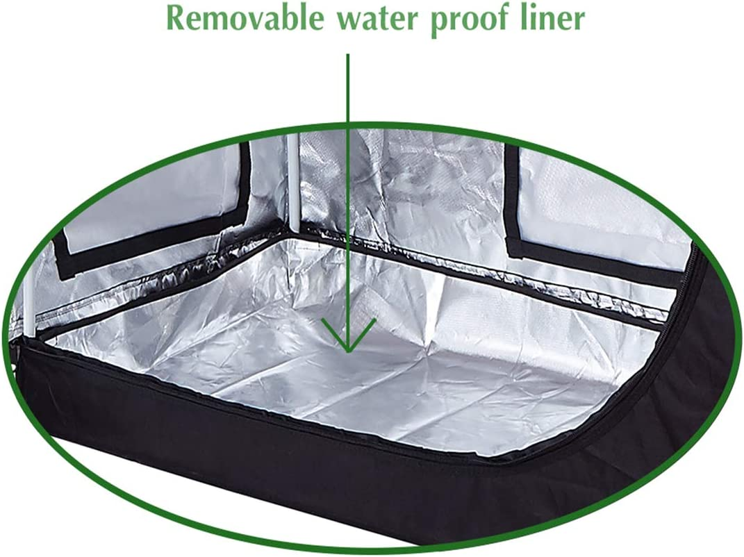 36x2063 Mylar Grow Tent w//Observation Window and Removable Floor Tray for Hydroponic Indoor Plant Seedling Growing