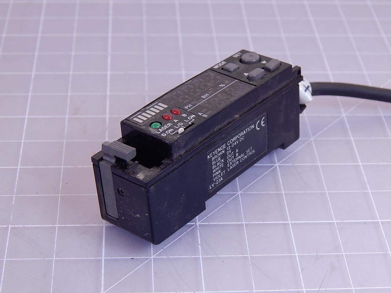 KEYENCE LV-21A Digital Laser Sensor Amplifier Display 12-24VDC T12338: Mechanical Component Equipment Cases: Amazon.com: Industrial & Scientific