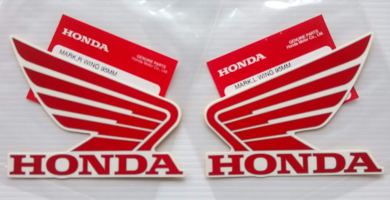 argent contour Honda Ailes R/éservoir /À Carburant Essence R/éservoir Autocollants 2 x 95mm ROUGE // BLANC Gauche Et Droit 100/% GENUINE