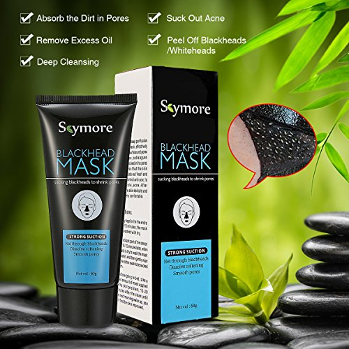 SKYMORE Blackhead Remover Mask, Purifying Peel-Off Facial Mask for Blackhead Removal, Acne Treatment, Oil Control, Deep Cleansing Nose Black Mud Mask 60g