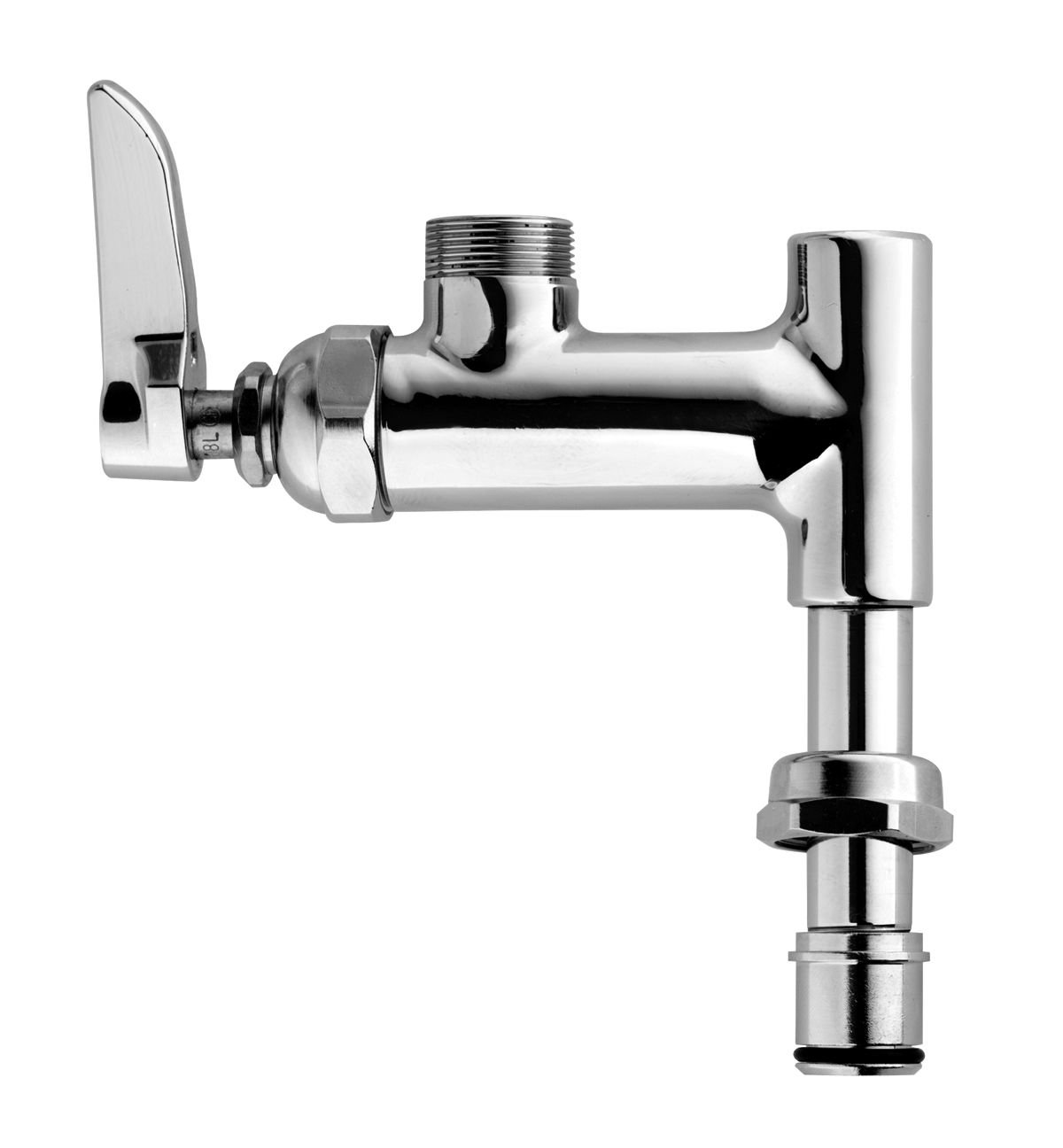 TS Brass B-0155-LN Add-On Faucet for Pre-Rinse Units, Chrome - Touch ...