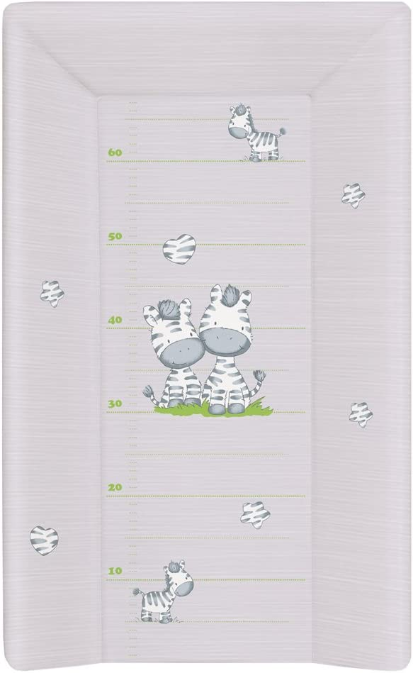 Cambiador Bebe para Cuna Impermeable para Niños y Niñas - Gris Cebra 70x50 cm