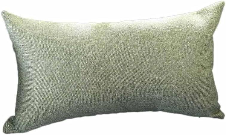 VJGOAL Casual Color sólido Suave Lino algodón Funda de Almohada Rectángulo extraíble y Lavable Cojín 30cm * 50cm(30_x_50_cm,Verde): Amazon.es: Hogar