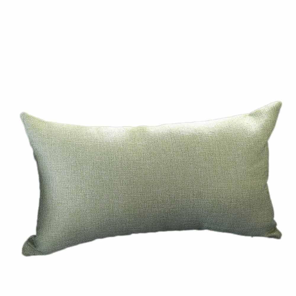 VJGOAL Casual Color sólido Suave Lino algodón Funda de Almohada Rectángulo extraíble y Lavable Cojín 30cm * 50cm(30_x_50_cm,Verde)