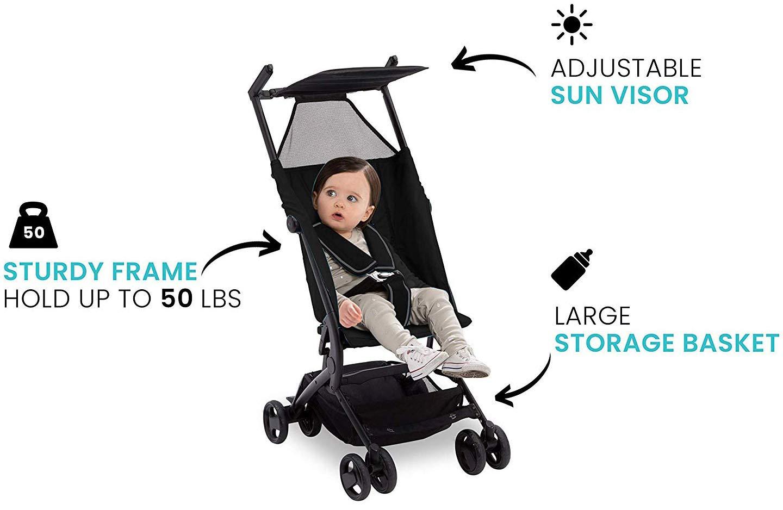 The Clutch Stroller by Delta Children - Lightweight Compact Folding Stroller - Includes Travel Bag - Fits Airplane Overhead Storage - Black by Delta Children (Image #10)