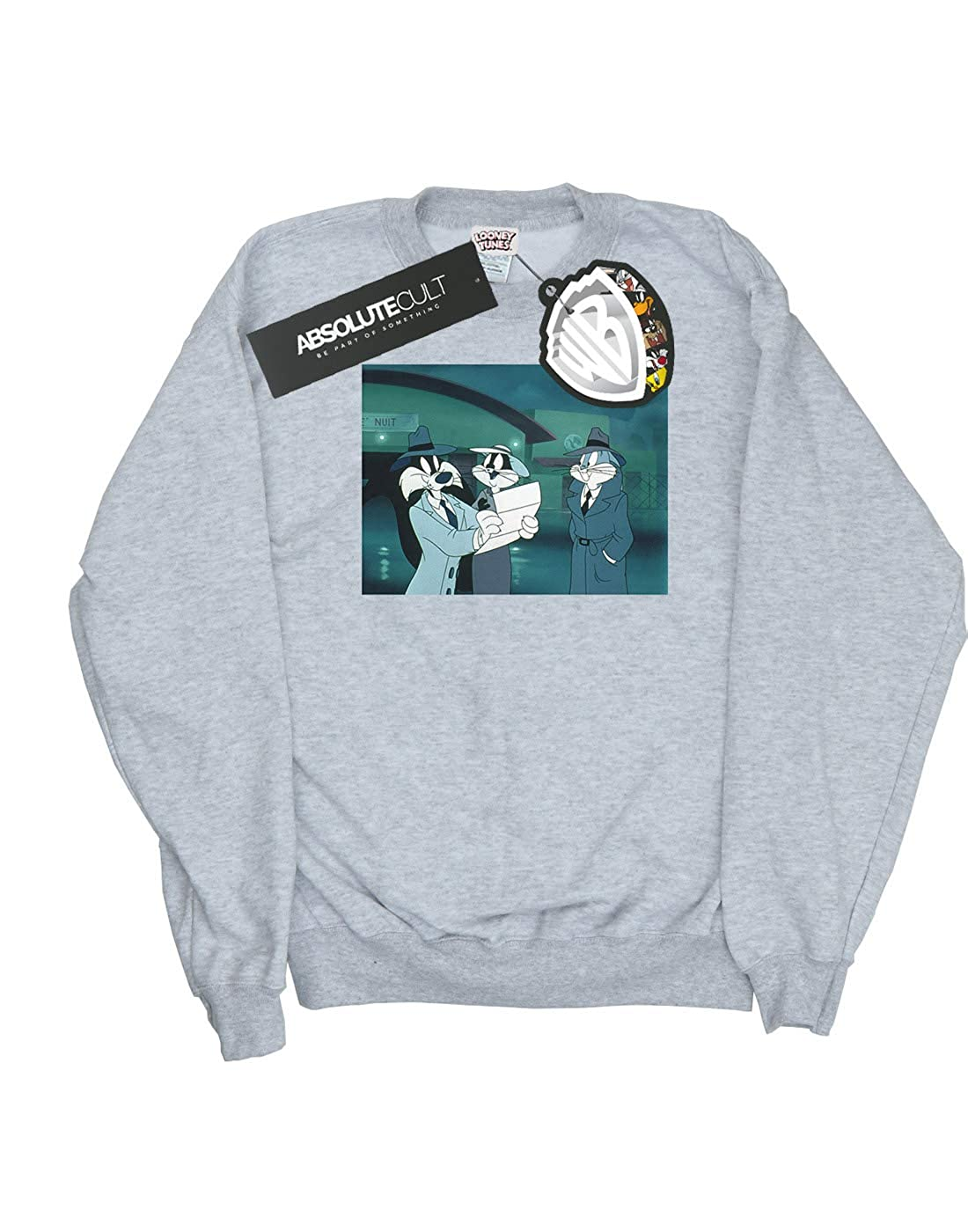 Absolute Cult Looney Tunes Girls Bugs Bunny Sylvester Letter Sweatshirt