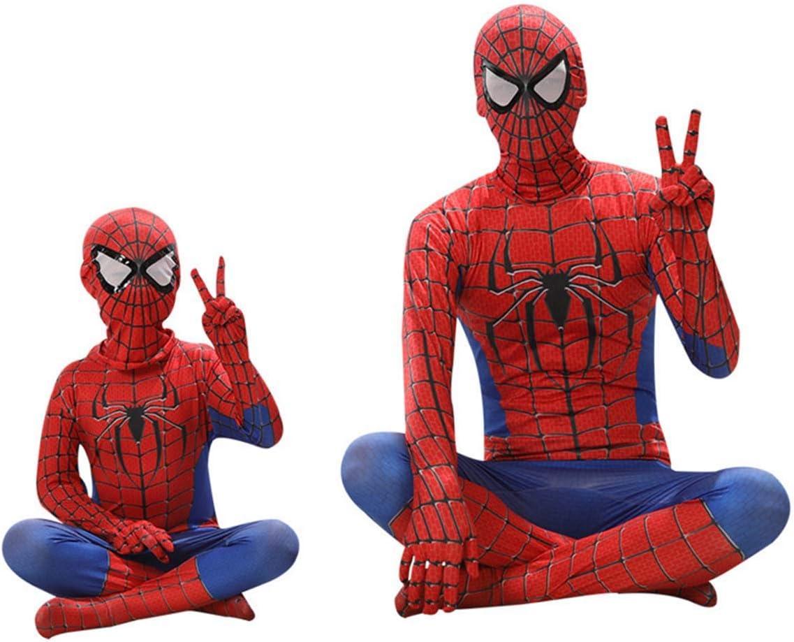 Leezeshaw Boys Marvel Superhero Costumes Unisex Kids Lycra Spandex Zentai Superhero Suit