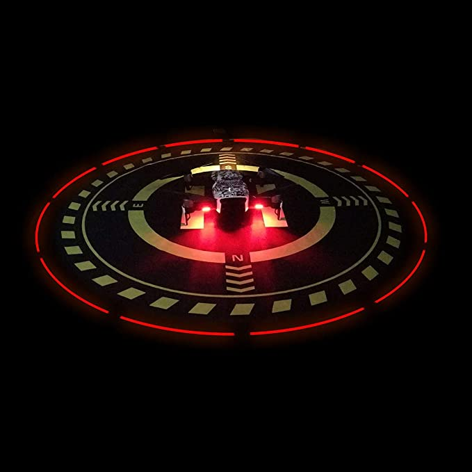 Drones Landing Pad with LED Light for DJI MAVIC/SPARK/Phantom 3/Phantom 4PRO/PRO(Diameter70cm/27.6inch) best drone accessories