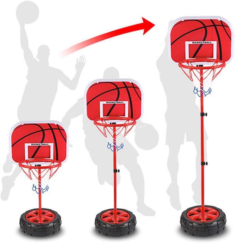Wishtime avec filet et ballon pour enfants Trois ans et plus Jeu de sport r/églable int/érieur et ext/érieur Ensemble de basketball portable et ajustable