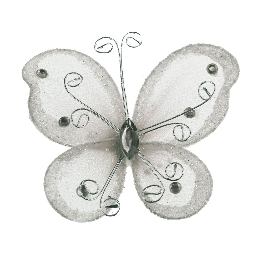 Homeford FEV000EBF002BLAC Glitter Butterflies 2 Black