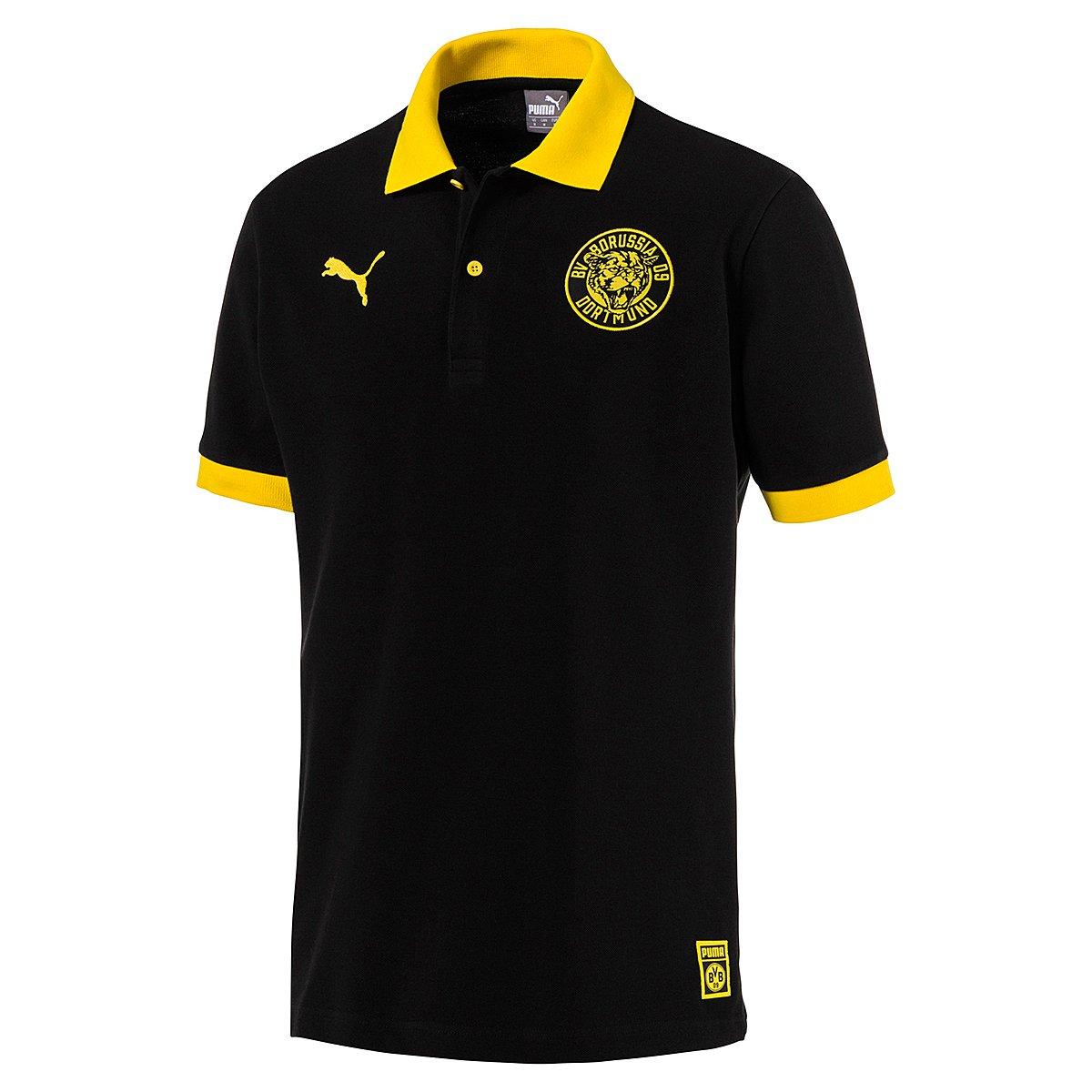 【ふるさと割】 2018-2019 (Black) Borussia Adults|Black Dortmund Puma Premium Stencil Polo Shirt (Black) Black B07F4H69YT Small Adults|Black Black Small Adults, カスガシ:e4ba0560 --- svecha37.ru