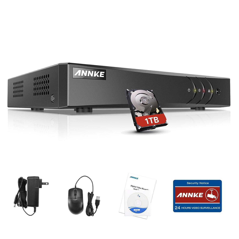 SANNCE 4 Canales DVR TVI 720P 5-en-1 Grabador de Video H.264 P2P Seguridad CCTV Sistema de Vigilancia Detección de Movimiento-1TB Disco duro de ...