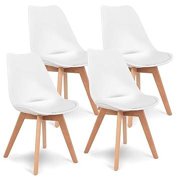 Amazon.com: Giantex Moderna mesa de comedor rectangular ...