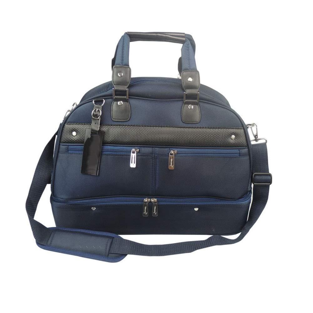 TAESOUW-Accessories Golf Clothing Bag Large Men Lightweight Gym Travel Handbag Durable Sports Duffle Bag(Blue and Black) (Color : Blue, Size : Free Size) by TAESOUW-Accessories