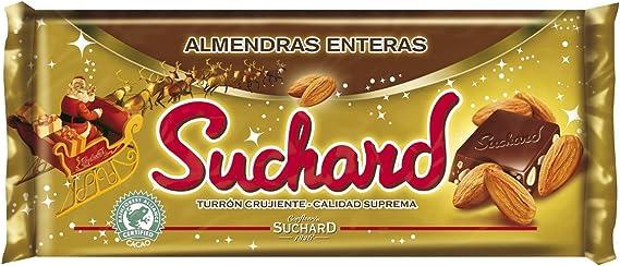 Suchard - Turrón de Chocolate Leche con Almendras enteras y Arroz ...