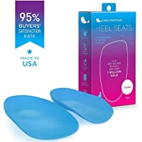 Heel That Pain Heel Seats Foot Orthotic Inserts - Heel Cups Cushions Insoles for Plantar Fasciitis, Heel Spurs, and Heel Pain, Light Blue Hybrid, Medium (Women's 6.5-10, Men's 5-8)