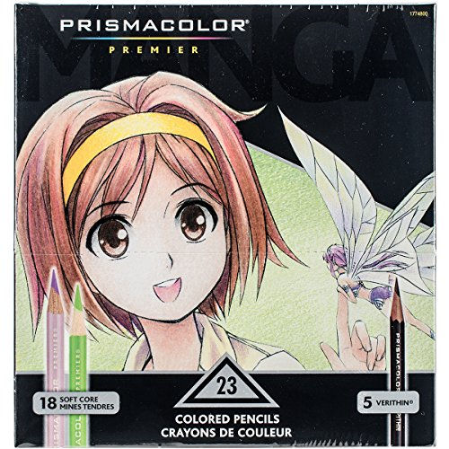 Prismacolor 1774800 Premier Colored Pencils, Manga Colors, 23-Count by Prismacolor