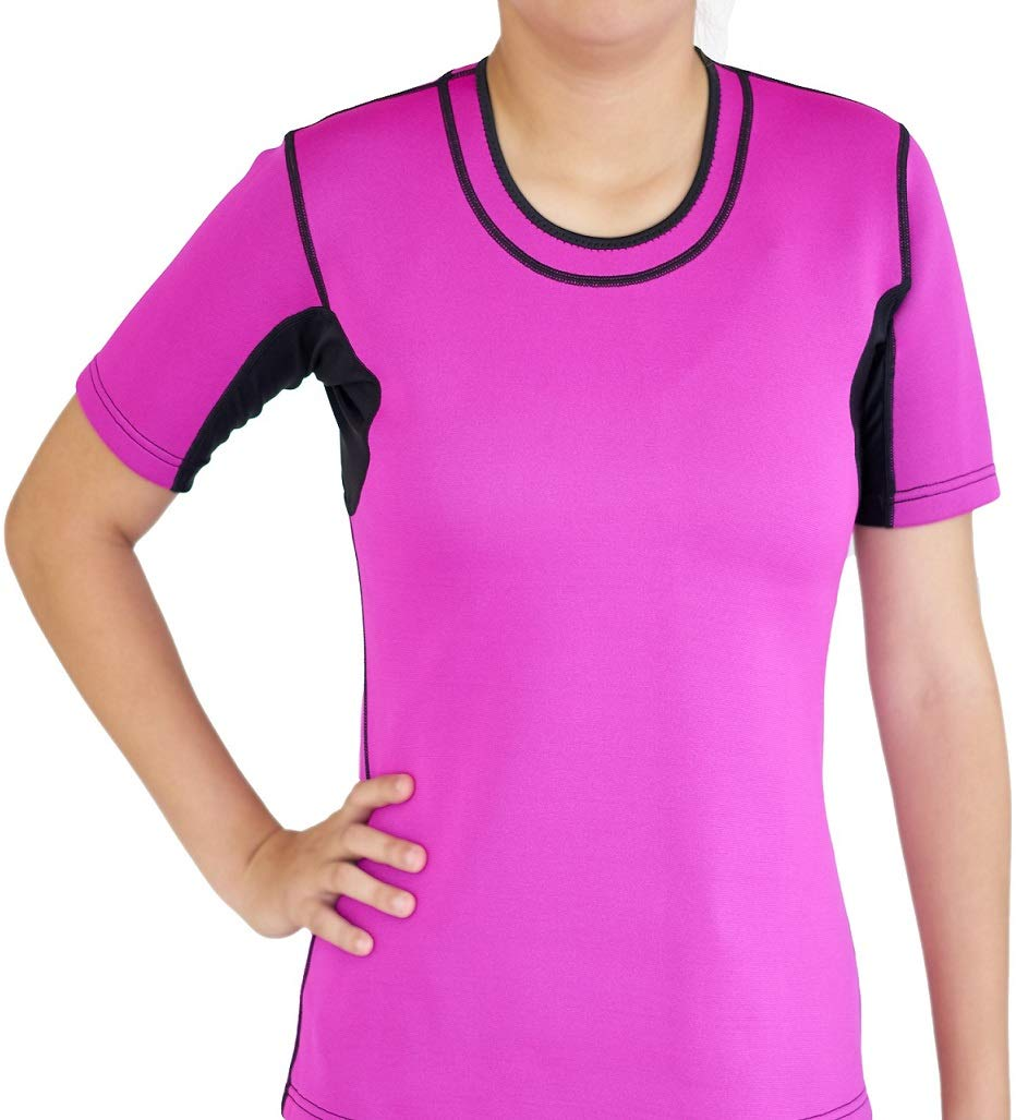 SISYAMA Neoprene Weight Loss Sauna Sweat Hot Long//Short Sleeves Shirt Top Slimming Suit Thumb Hole Workout Exercise