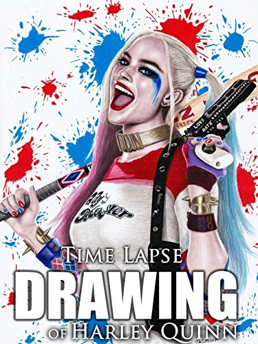 Clip: Time Lapse Drawing of Harley Quinn -