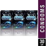 Durex Condoms - 10 Count (Pack of 3, Extra Time)