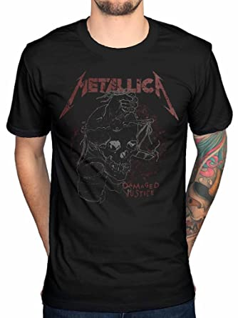 ad1f65370c4d89 Official Metallica Damaged Justice T-Shirt Band Heavy Metal James Hetfield  Death Magnetic