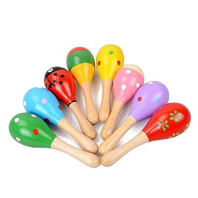 WDILO - 1 Pieza de Campanas de Madera para bebé, diseño de arcoíris: Hogar