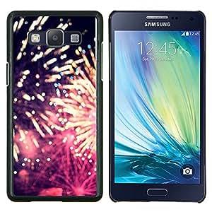 Caucho caso de Shell duro de la cubierta de accesorios de protección BY RAYDREAMMM - Samsung Galaxy A5 A5000 - fuegos artificiales 4'th día de la independencia de julio