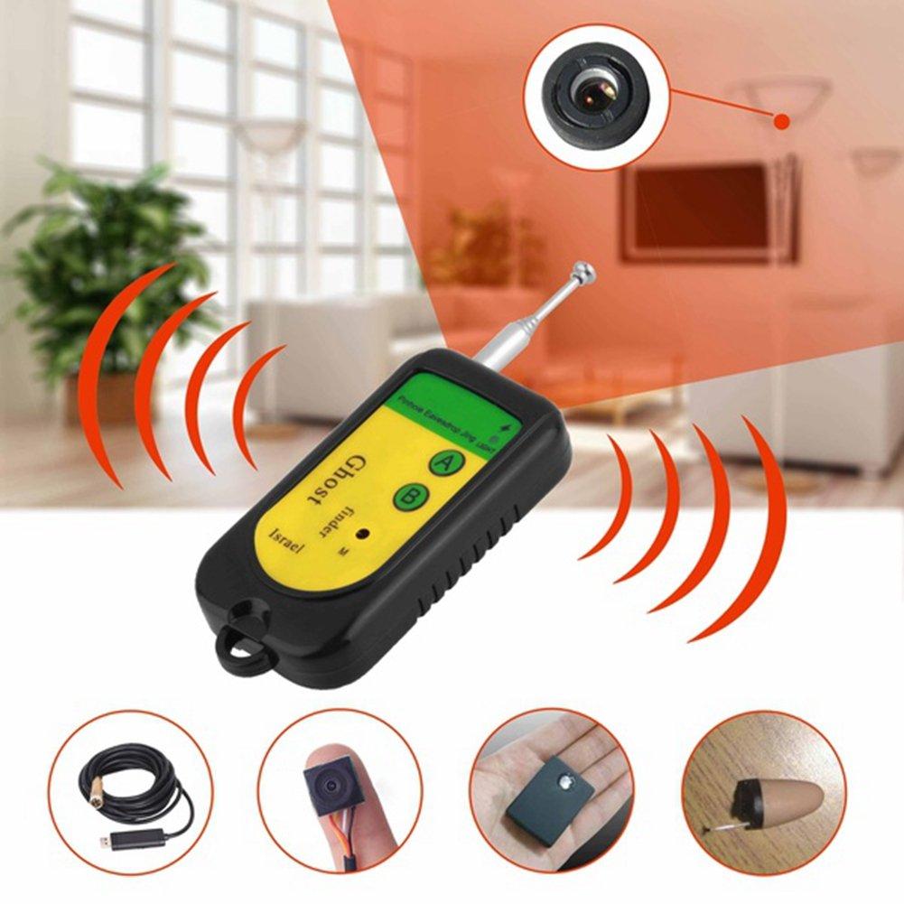 anti-spy Hidden wireless RF Bug detector Tracer Finder nascosto obiettivo della fotocamera GSM dispositivo Finder, giallo Hinmay