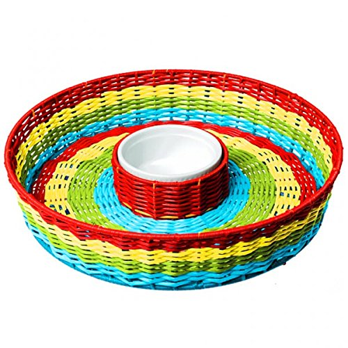 Plastic 13 1/2in Del Sol Chip and Dip Basket by Factory Card and Party Outlet