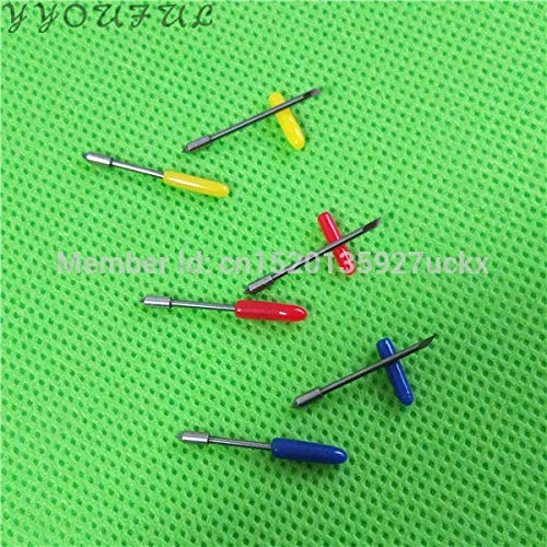 Printer Parts Graphtec Vinyl Plotter Spare Parts CB09 CE6000 60 Paper Cutter Blade 30 45 60 Degree with Spring 2 Box 10pcs for Sale - (Color: 30 Degree)