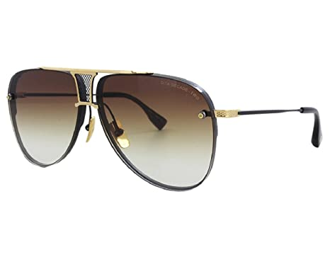 c203aadb8dc5 Dita Decade Two Sunglasses Model DRX 2082 with Matte Black   Gold Frame and  Brown Lens