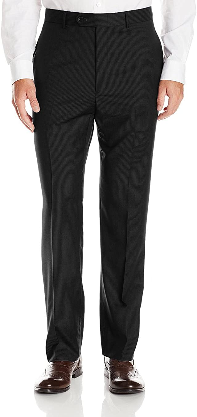 LN LUCIANO NATAZZI Mens Suits 2 Button Modern Fit Side Vent Narrow Stripe Suit