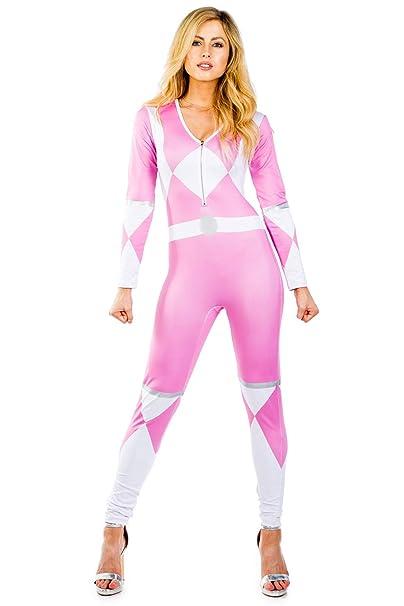 Amazon.com: Tipsy Elves Disfraz de Ranger rosa para mujer ...