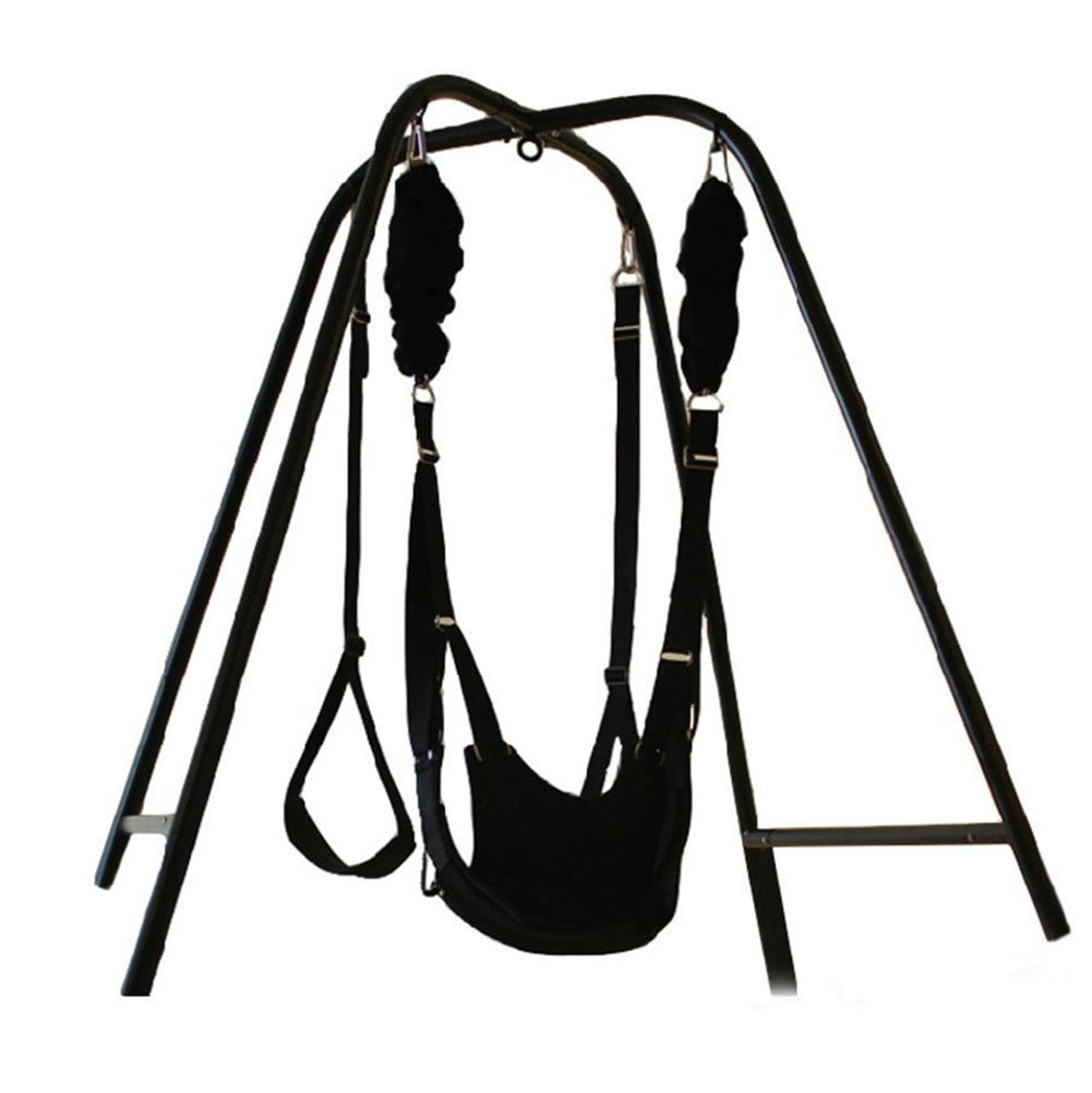 Sex Swing Stand with Wrist Restraints Clamp Belt for Couples,Swing for Yoga,Plus a Sex Door Swing