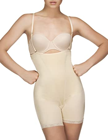 65e0e98db1 Vedette Shapewear 504 Isabelle Strapless Mid Thigh Body w  Buttock Enhancer  Nude Large