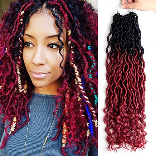 MOBOK 6Pcs/Lot Goddess Locs Faux Locs Crochet Twist Braiding Soft Synthetic Hair Extension (20inch(6pack), OT530) (Hair Locks Extensions)