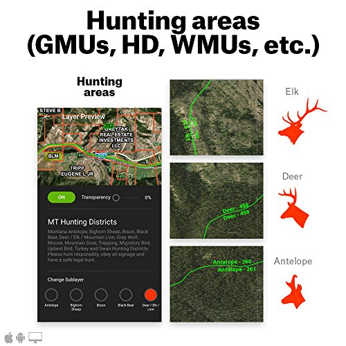 onXmaps HUNT Elite: 50 State Digital Map Membership for Phone, Tablet, and Computer Color Coded Land Ownership 24k Topo Hunting Specific Data Updates for Garmin HUNT Chip