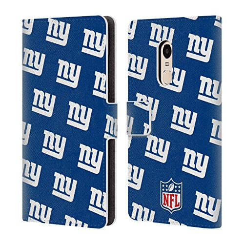 Official NFL Patterns 2017/18 New York Giants Leather Book Wallet Case Cover For Xiaomi Redmi Note 4